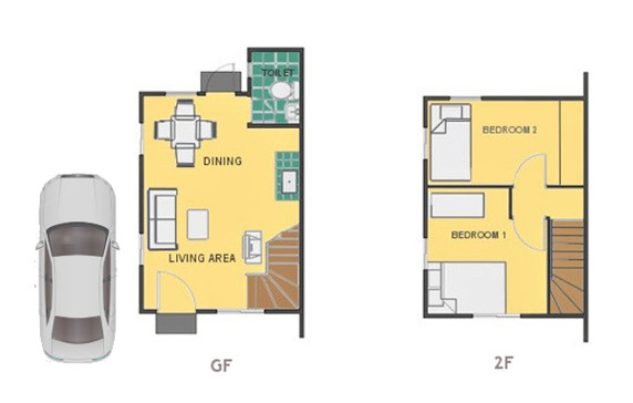 Mika Floor Plan House and Lot in Bohol