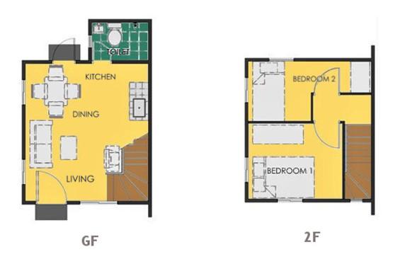 Ravena Floor Plan House and Lot in Bohol
