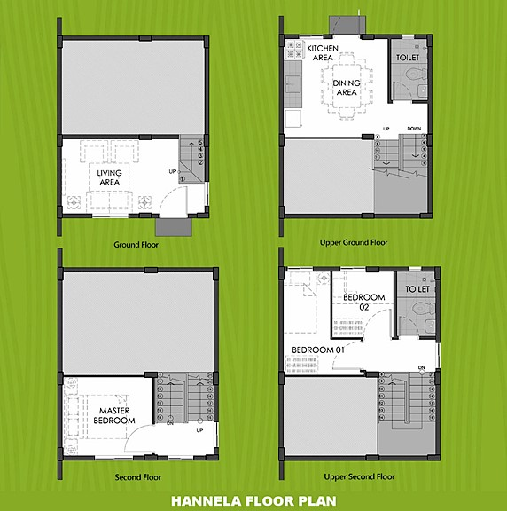 Hannela Floor Plan House and Lot in Bohol