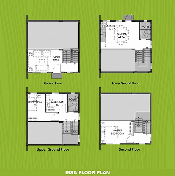Issa Floor Plan House and Lot in Bohol