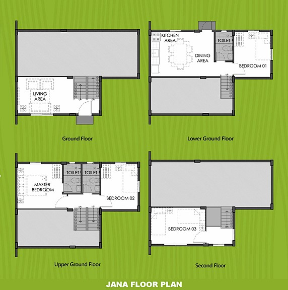 Janna Floor Plan House and Lot in Bohol