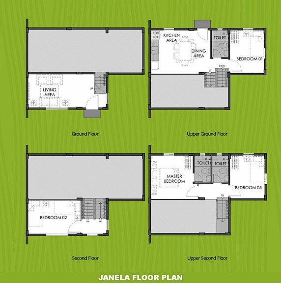 Janela Floor Plan House and Lot in Bohol
