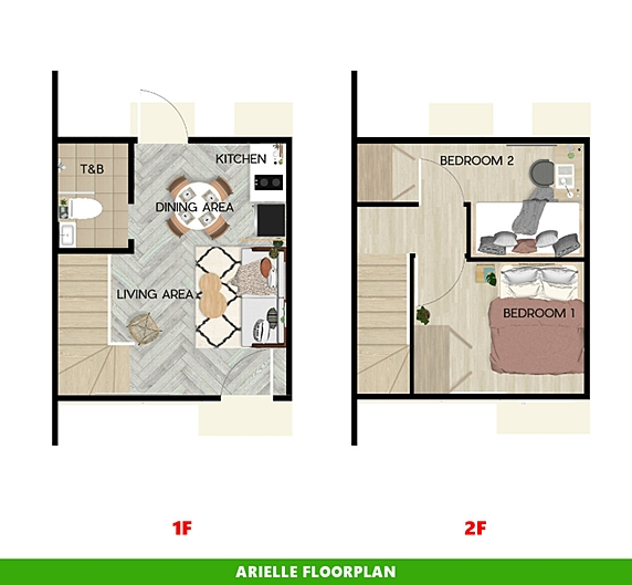 Arielle Floor Plan House and Lot in Bohol