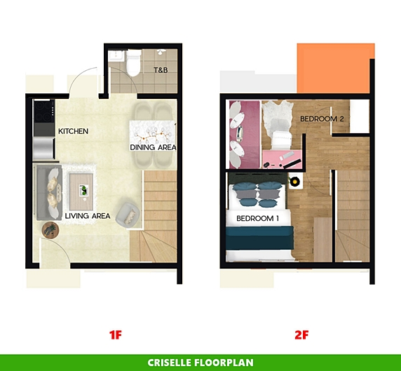 Criselle Floor Plan House and Lot in Bohol