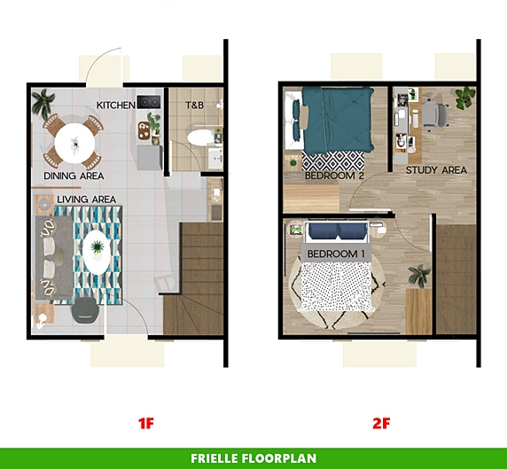 Frielle Floor Plan House and Lot in Bohol